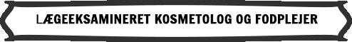 Logo: Lægeeksamineret kosmetolog og fodplejer